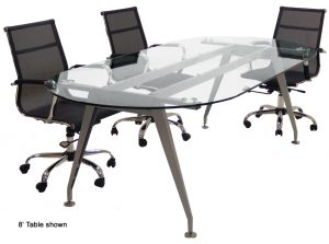 Mod Ofc Glass Conf Table